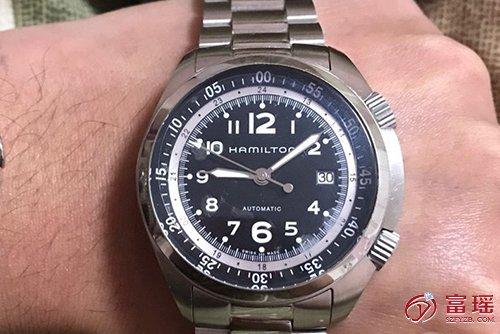 汉米尔顿卡其航空系列H76455133腕表回收