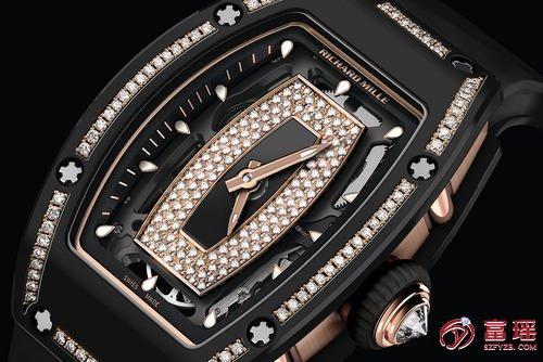 深圳名表鉴定,哪能高价上门回收理查德米尔黑色陶瓷镶钻手表?